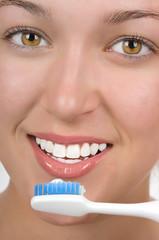 Panel Szklany Podświetlane Do dentysty Brushing Teeth