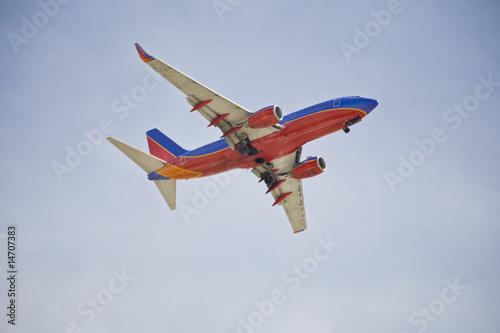 Fotografia  Boeing 737 Airliner In Flight