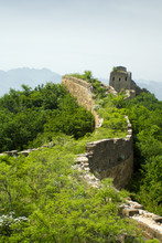 Unrestored Section Of The Great Wall