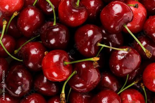 Die saftigen, roten Süßkirschen
