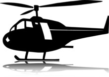 Helicopter One Vector Silhouet...
