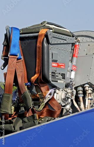 Fényképezés  sedile di aereo militare