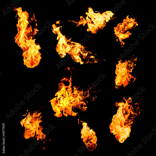 Photo sur Aluminium Feu, Flamme flame samples, real photos