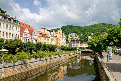 Fotografie, Obraz  water canal in Karlovy Vary