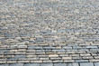 Cobblestone pavement at Red Square, Moscow, Russia