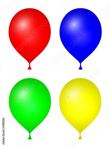 Valokuva  Lot de 4 ballons colorés
