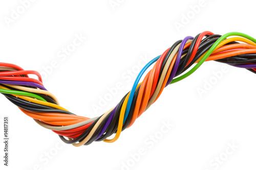 Fotografie, Obraz  Multicolored computer cable
