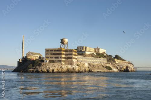 Alcatraz at sunset Canvas Print