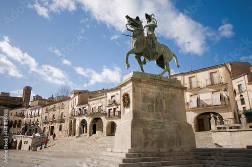 Mayor Square in Trujillo. Caceres, Spain.
