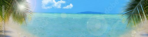 tropical beach background banner