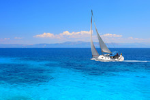 Sailing Yacht In Turquoise Wat...