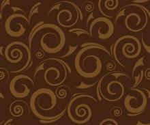 Seamless Brown Floral Background Design