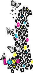 Fototapeta Motyle love and peace illustration