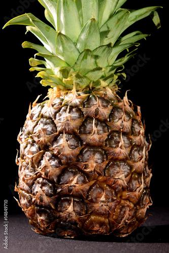 Fototapety, obrazy: Pineapple on black background