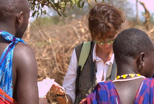 Canvas Print Mercato Masai
