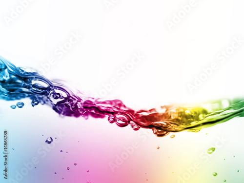 colorful liquid in motion Fototapete