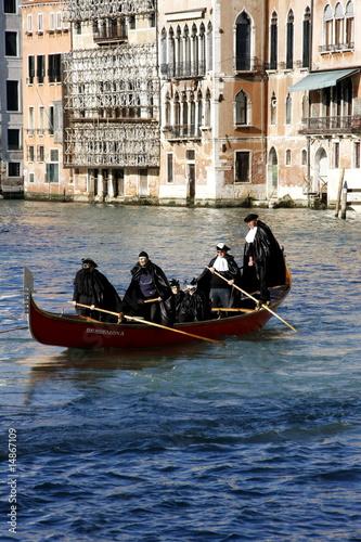 Spoed Foto op Canvas Gondolas Carnevale di Venezia