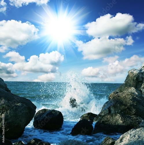 Foto-Leinwand - Sea wave