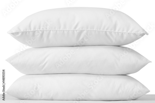 Fotografie, Obraz  Three soft pillows. Clipping path.