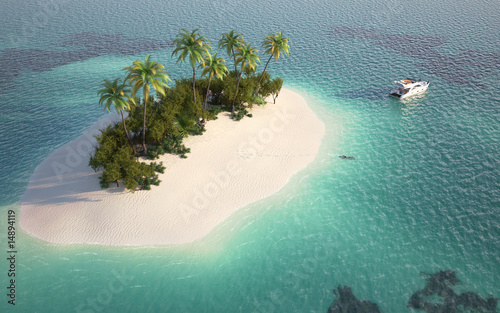 Foto Rollo Basic - aerial view of paradise island