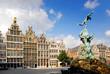 canvas print picture - city of antwerp, belgium