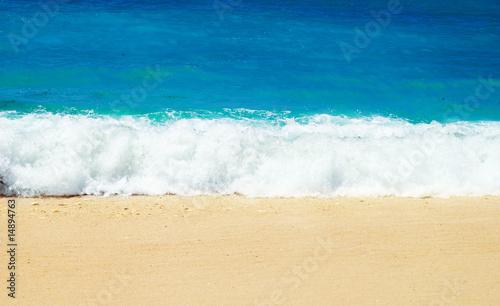 Stickers pour porte Pierre, Sable Beach Wave