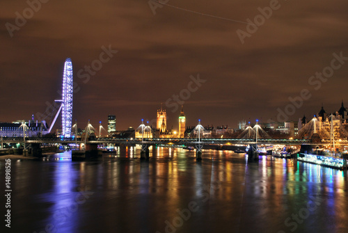 London's skyline by night Poster