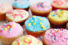 Colored Cup Cakes