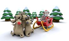 Santa And Gifts