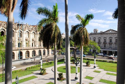 view from capitolio building havana cuba Slika na platnu