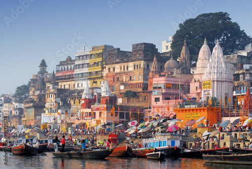 Deurstickers India main ghat at varanasi india