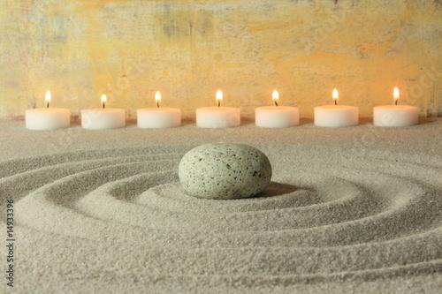 Acrylic Prints Stones in Sand Kreise im Sand