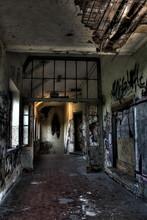 Destroyed Building Interior