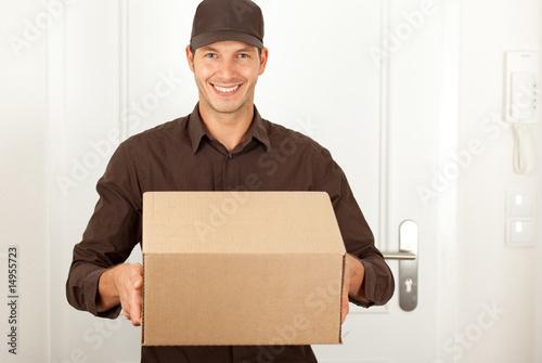 Fotografie, Obraz  friendly postman