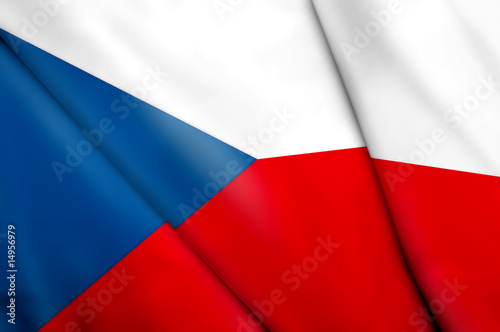 Flag of Czech Republic Fototapet