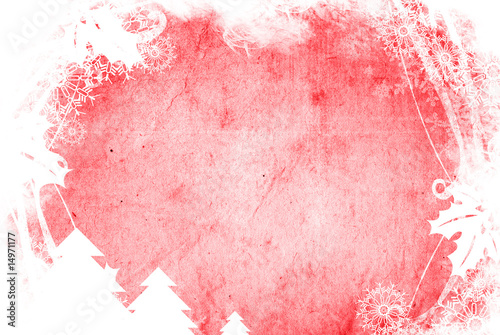 Poster Portrait Aquarelle Christmas abstract Background frame
