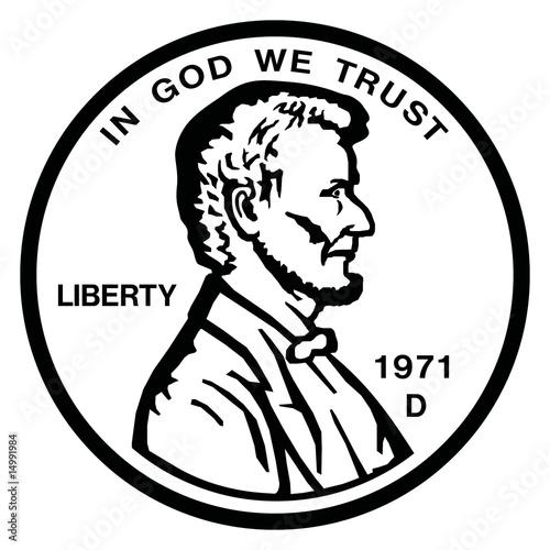 Fotografía  penny coin