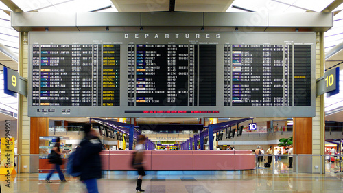 Papiers peints Aeroport departure board