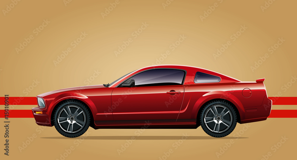 Fototapety, obrazy: red sports car