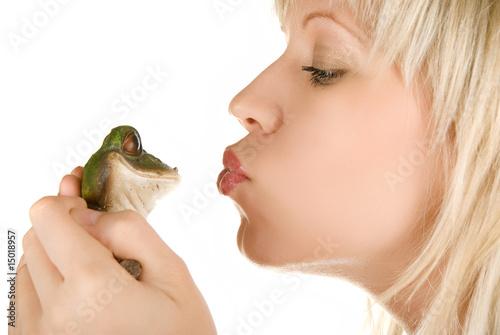 Valokuva  Girl and Frog prince