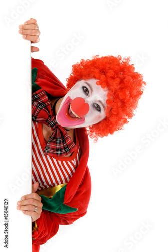 Photo  Female holiday clown