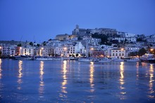 Ibiza Island Night Harbor In M...