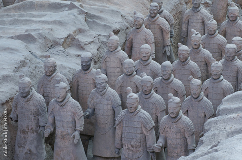 Foto-Stoff bedruckt - The Terracotta Army in Xian (von Tersina Shieh)