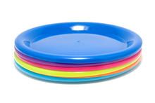 Colorful Plastic Plates Isolat...