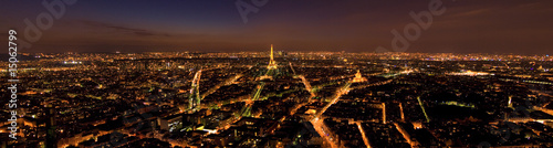 Aluminium Prints Paris Panorama Paris