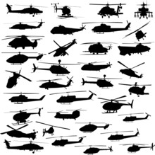 Helicopter All Vector Silhouet...