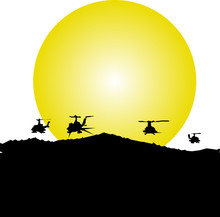 Helicopter In Action Illustrat...