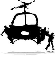 Helicopter With Soldier Illust...