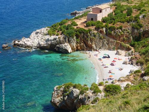 Fotografie, Obraz  kleine Bucht in Sizilien