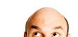 Leinwanddruck Bild - bald head isolated